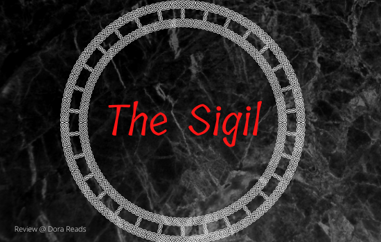 'The Sigil' with an artsy black marble background