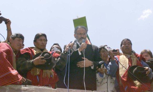 Mesa, el 18 de octubre de 2003, en El Alto comprometió justicia por los 60 muertos / ARCHIVO