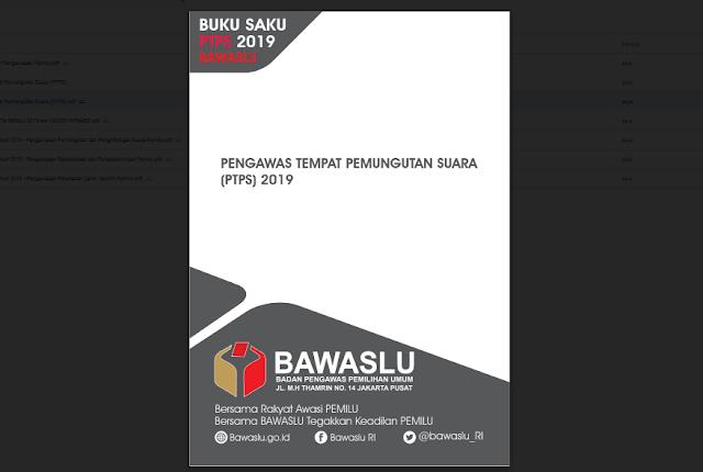 Buku Saku Pengawas Tempat Pemungutan Suara (PTPS) Pemilu 2019