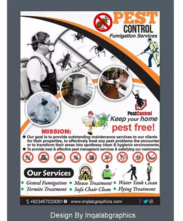 pest control brochure download free psd and cdr file. Black Bedroom Furniture Sets. Home Design Ideas