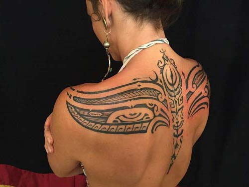 kadın sırt maori tribal dövmeleri woman back maori tribal tattoos