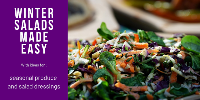 Use in season fruit and veg to make great winter salads