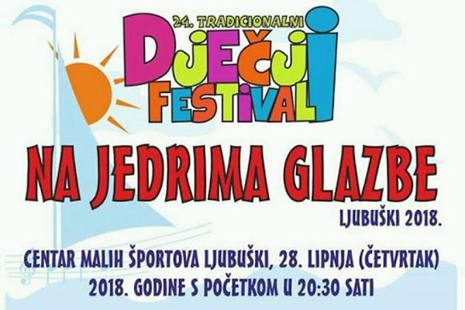 Najava: U četvrtak dječji festival Na jedrima glazbe