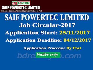 Saif Powertec Limited job circular 2017
