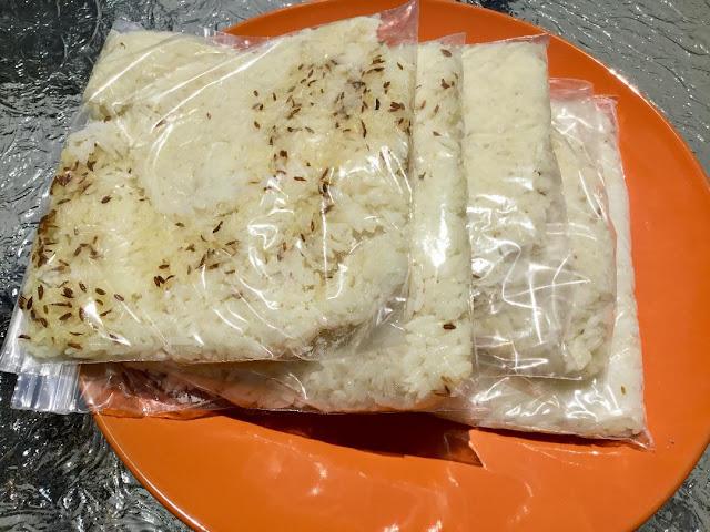 DIY frozen rice