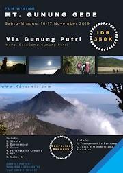 Open Trip Pendakian Gunung Gede Via Putri