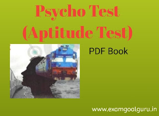 RRB ALP psycho test book