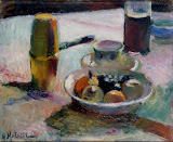 Fruit and Coffeepot by Henri Matisse - Fruits Paintings from Hermitage Museum