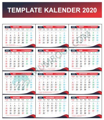 Download Template Kalender 2020 CDR GRATIS