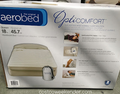 Costco 976976 - Aerobed Opticomfort Queen Headboard Airbed - With built-in pump and headboard