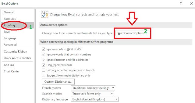 Gõ tắt trong Excel, viết tắt trên excel 2013, 2010, 2007, 2003