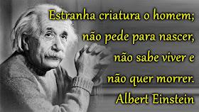 Estranha Criatura O Homem Frase Albert Einstein Frases