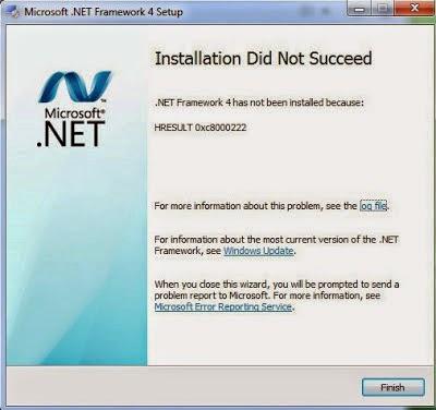 Cara Mengatasi Error HRESULT 0xc8000222 .NET Framework