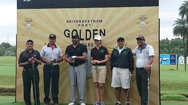 rakul preet singh, madhavan at golf kpcl golden eagles