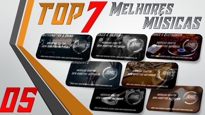 As 7 Melhores Músicas #05 Grátis free use Logo Tipo Designer