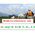 Walk in Interview-B. Sc (Ag)/ B. Sc/B. V. Sc. & AH Job