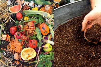 Membuat pupuk kompos dengan sampah organik yang mudah, murah, dan singkat.