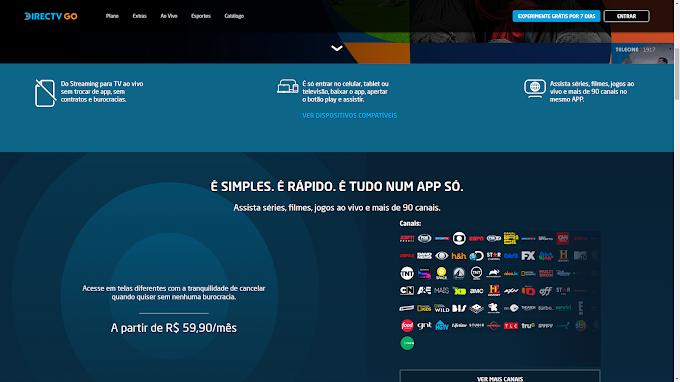 Novo serviço de IPTV Direct GO TV Chega ao Brasil