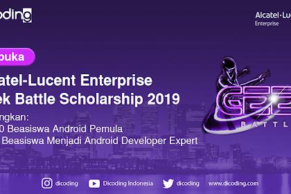 Beasiswa Alcatel-Lucent Enterprise Geek Battle Scholarship 2019