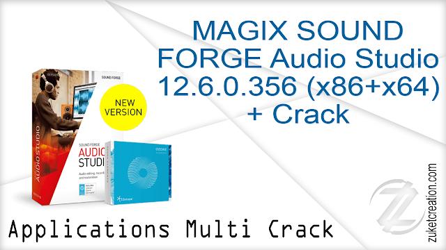 MAGIX SOUND FORGE Audio Studio 12.6.0.356 (x86+x64) + Crack