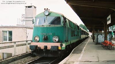 Lokomotywa SU45-028 w Gorzowie Wielkopolskim