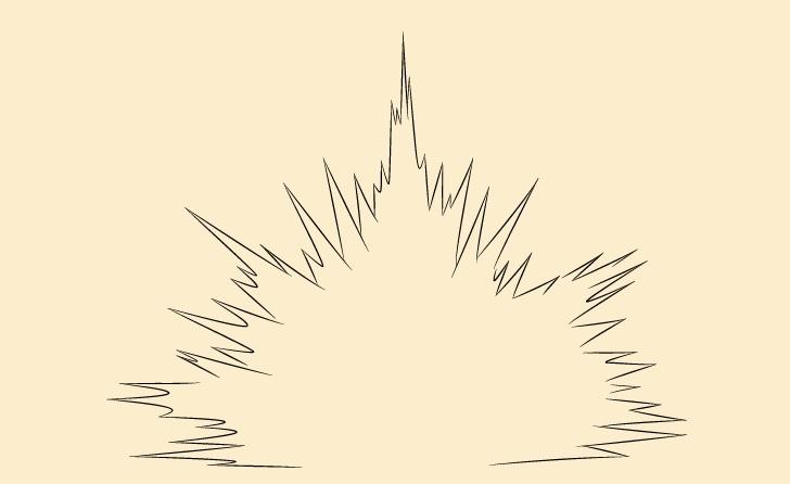 Gambar detail garis besar ledakan ledakan