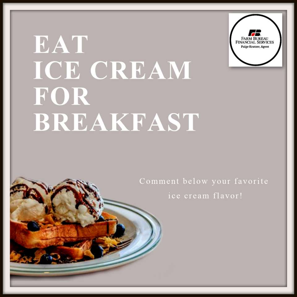 National Eat Ice Cream for Breakfast Day Wishes Unique Image