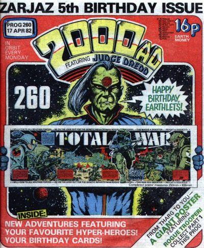 2000 AD Prog 260, Happy Birthday, Tharg