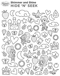 Shimmer and Shine Party Free Printable Coloring Pages.