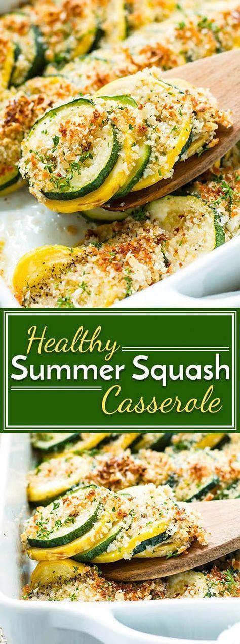 Healthy Summer Squash Casserole