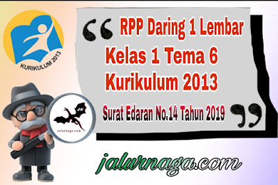 RPP Kelas 1 Tema 6