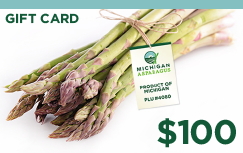 Asparagus and gift card