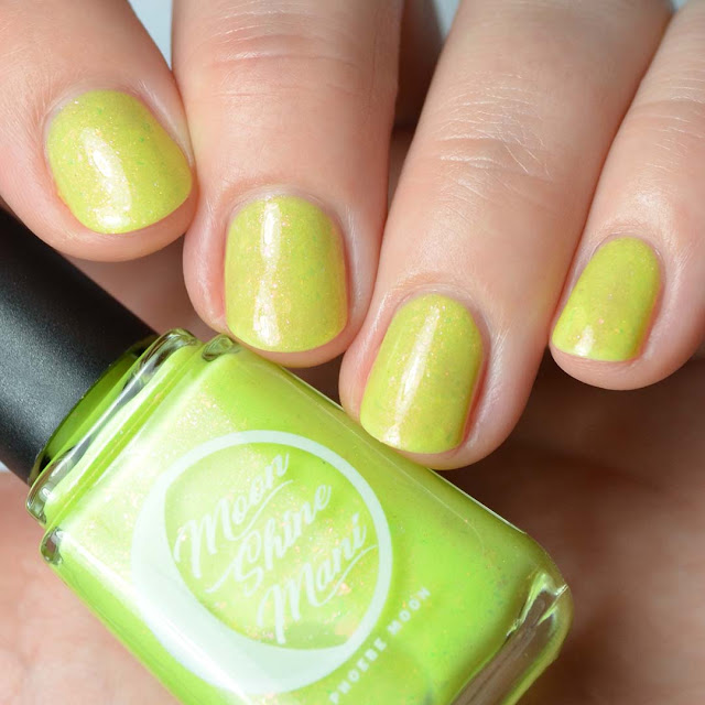 yellow green shimmer nail polish
