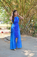 Tamil Actress Sanchita Shetty Latest Pos in Blue Dress at Yenda Thalaiyila Yenna Vekkala Audio Launch  0022.jpg