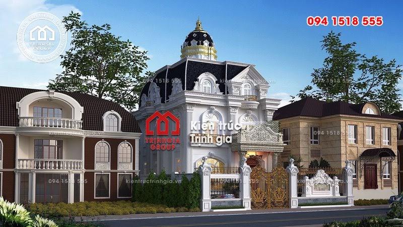 Mẫu thiết kế biệt thự Pháp với màu trắng sang trọng quý phái - Mã số BT2629 - Ảnh 2