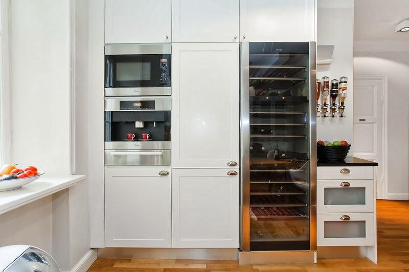 El inevitable blanco en las cocinas escandinavas  Cocinas