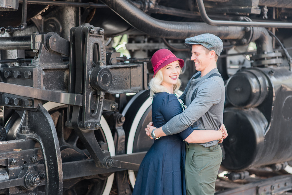 Arizona Vintage Engagement Photo at Pioneer Park