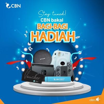 Kuis CBN Versary Berhadiah Instax, Speaker, Nintendo dll