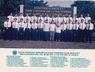 Raden Agus Suparman peserta Diklat Pemeriksaan Pajak 2001