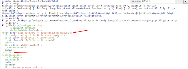 Cara Menampilkan dan Menyembunyikan Widget Halaman di Blog
