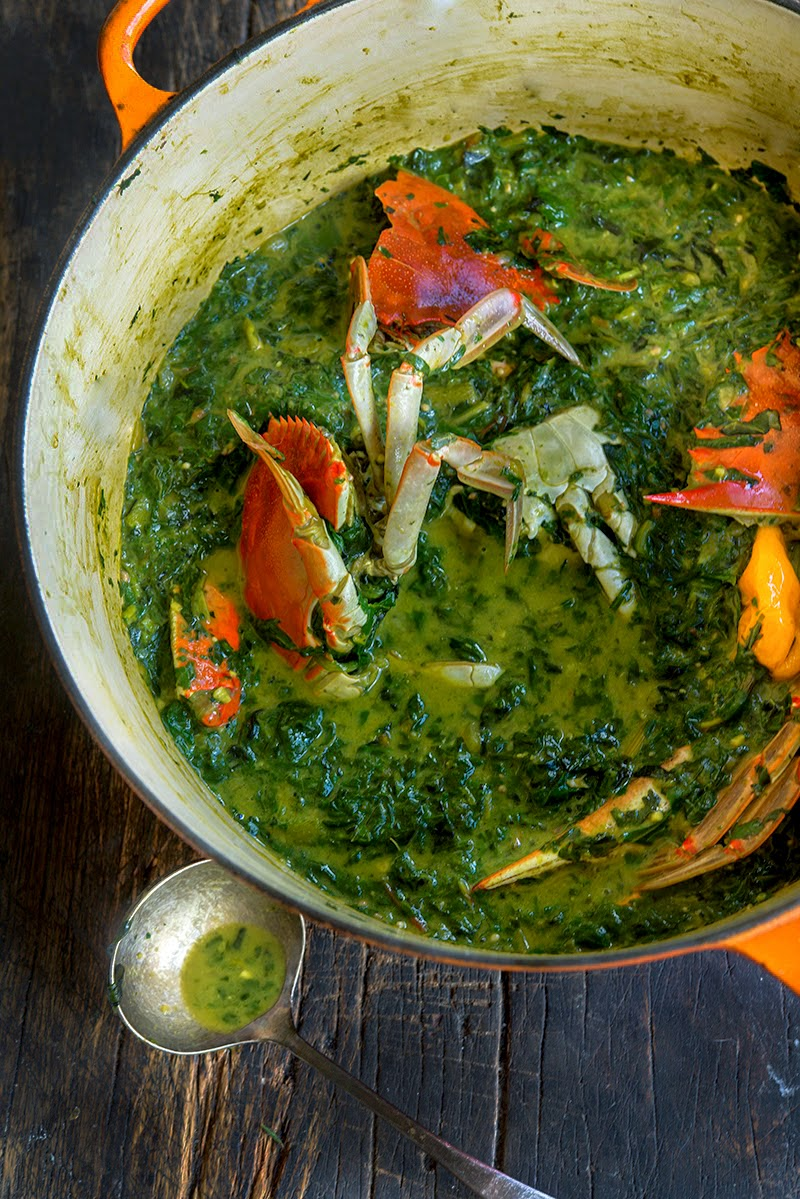 Callaloo Stew With Chesapeake Bay Blue Crab Wild Greens