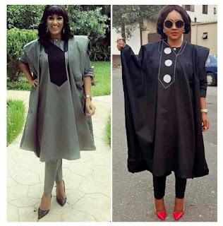 Agbada attire for fashionable females