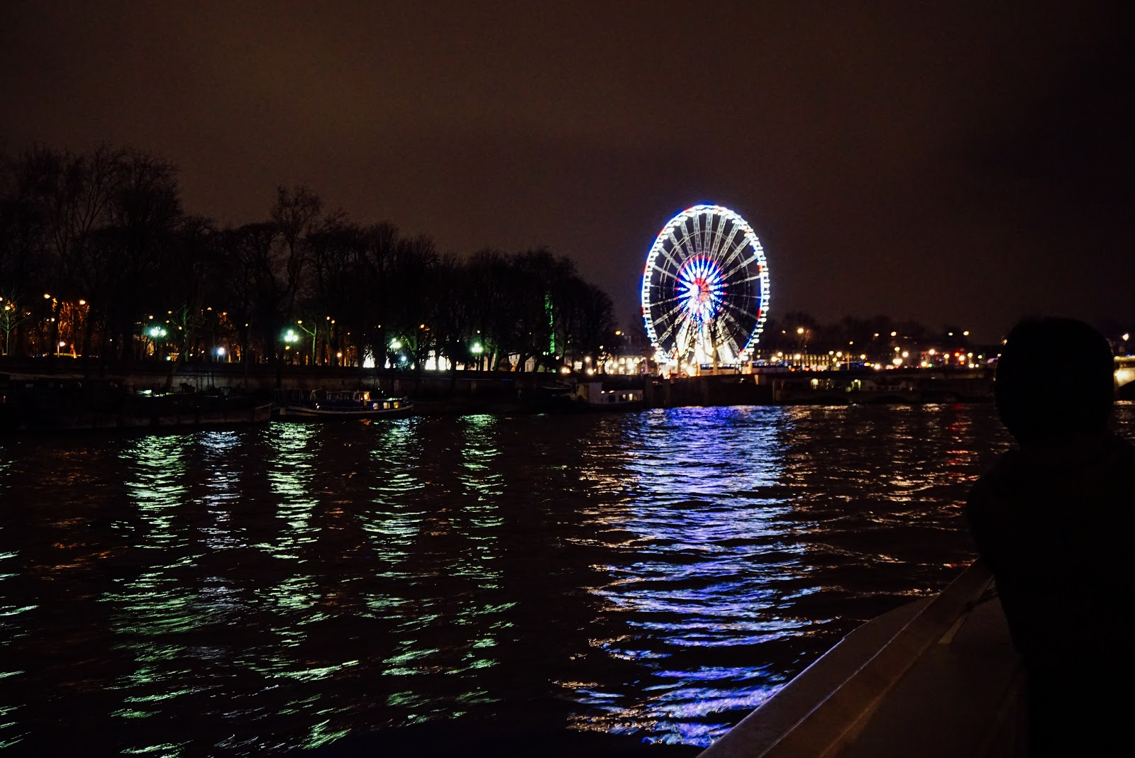 Ferris wheel on a river