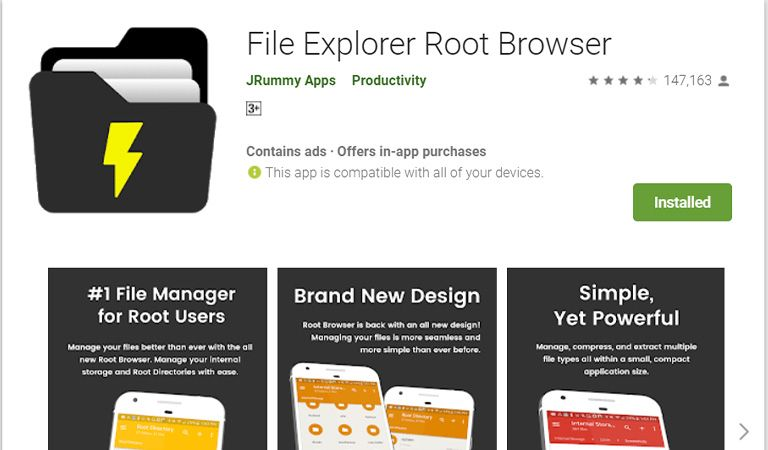 تطبيق Root Browser File Manager