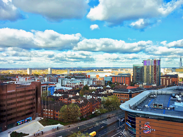 View of Birmingham city centre from Park Regis hotel