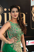 Manjusha in Beautiful Sleeveless Green Anarkali dress at IIFA Utsavam Awards 35.JPG