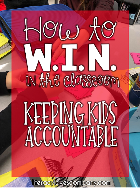 Keeping students accountable during your W.I.N. block can be a challenge!  Get some  great ideas and a free download  from Literacy Loves company.