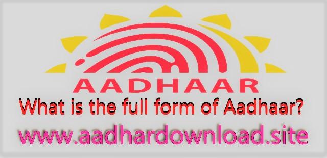full-form-of-Aadhaar