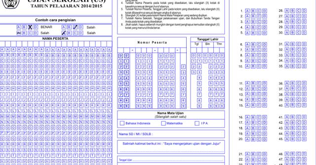 Lembar Jawaban Komputer Ljk Sekolah Versi Ulangan Harian Ujian Sekolah Dan Ujian Nasional