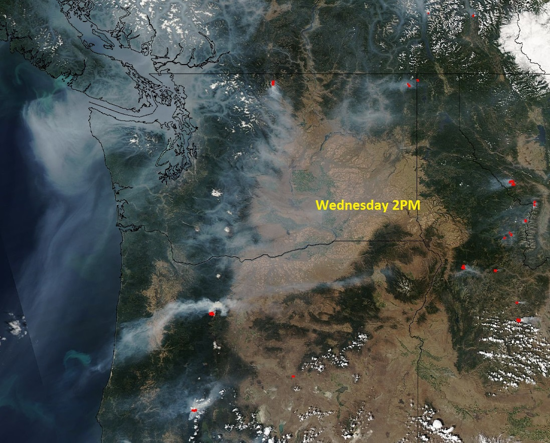 Washington Smoke Information Mild recovery started And paused